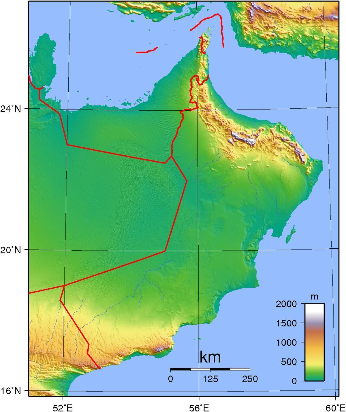 Asia Occidentale Cartina Politica.Oman Cartina Geografica Cartina Di Oman Geografiche Asia